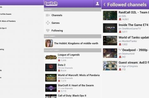 Twitch Android app updated with persistent login, followed channels