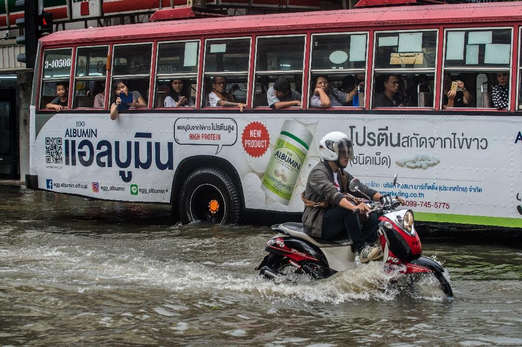 Bangkok is already 'largely under sea level' and monsoon season often brings flooding to the Thai capital (AFP Photo/ROBERTO SCHMIDT)