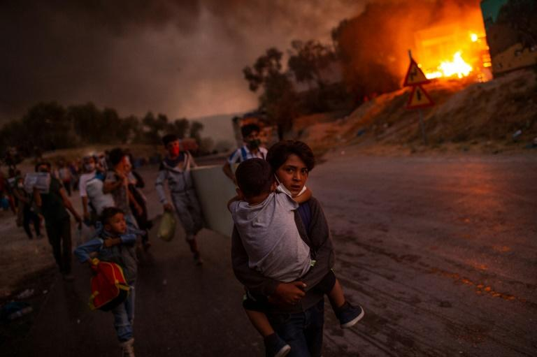 Moria still hosts half the migrants in Greek camps after the fire in early September