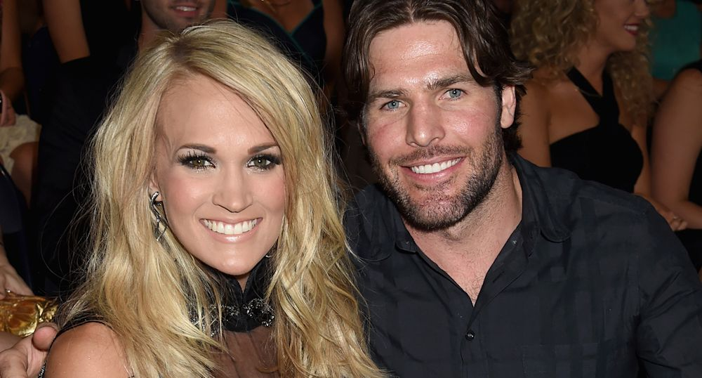 Carrie Underwood and Mike Fisher at the 2015 CMT Music Awards. (Photo: Jeff Kravitz/FilmMagic)