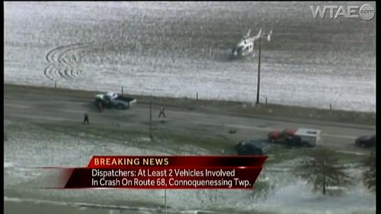Helicopter called to Route 68 crash [Video]
