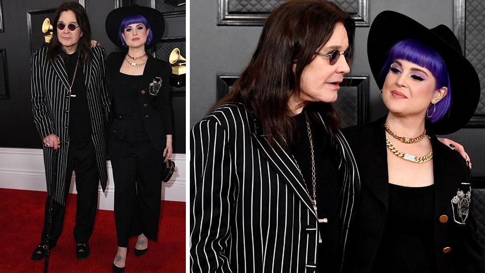 Ozzy Osbourne walks Grammys red carpet with cane after shock diagnosis
