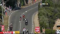 Dog nearly causes catastrophe at Tour de France