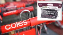 Woman finds 'little visitor' in her Coles grapes