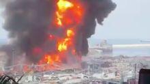 Porto de Beirute, atingido por explosão há um mês, registra grande incêndio