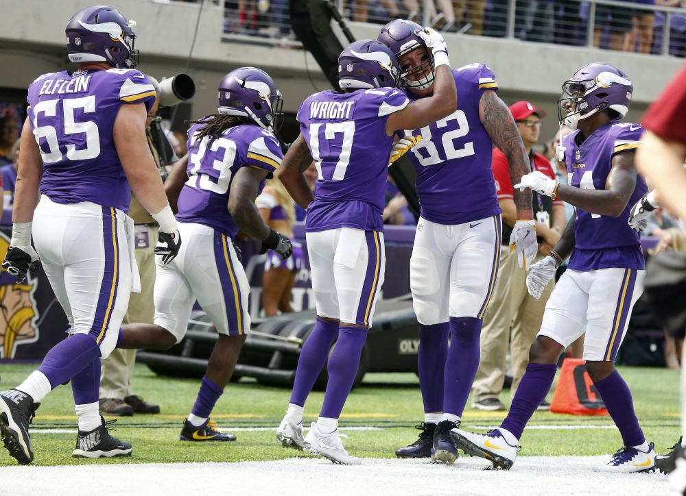 The Vikings look to improve to 3-1 on Sunday against the Lions. (AP)