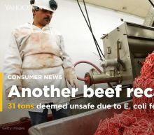 Another 31 tons of beef recalled because of E. coli fears