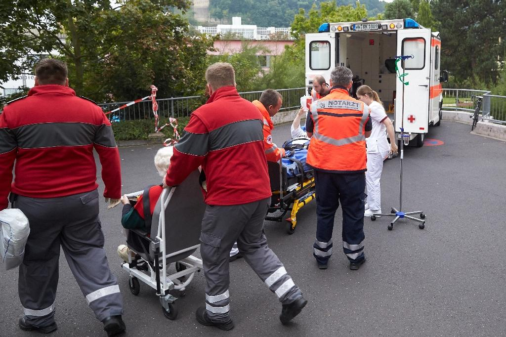 Hospital patients were among the 21,000 people evacuated in Koblenz