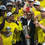Salt Bae celebrates with Fenerbahce after team's EuroLeague championship victory