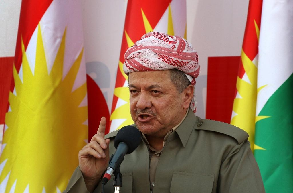 A 2017 referendum on Iraqi Kurdish independence, which Masoud Barzani championed, prompted Baghdad to reoccupy large swathes of Kurdish-held territory but the family made a resounding comeback at the ballot box (AFP Photo/SAFIN HAMED)