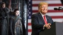 Donald Trump parodia un cartel de Juego de Tronos y las estrellas de la serie responden ofendidas