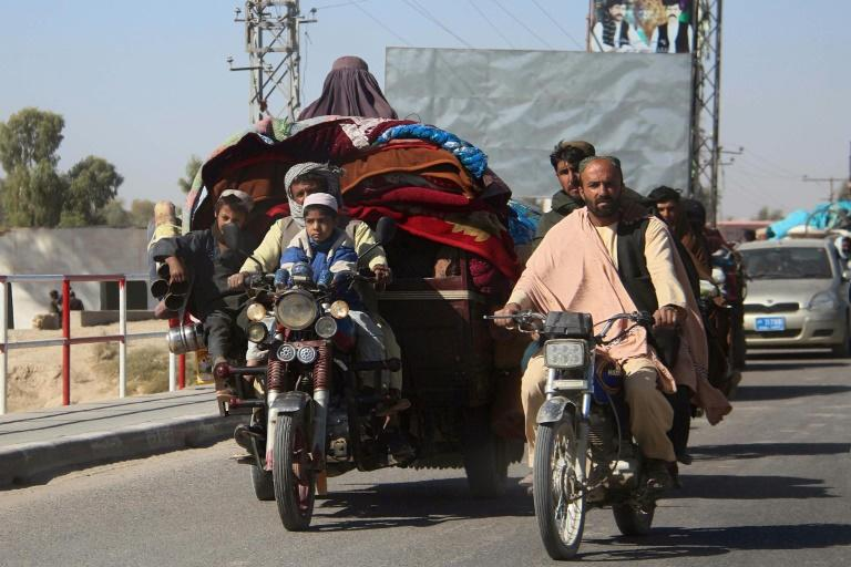 Tens of thousands of people have fled their homes because of intense fighting between Afghan security forces and the Taliban in Helmand province
