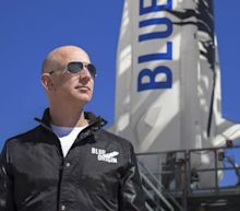 Who paid $28 million to go into space with Jeff Bezos?