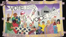 Modern suffragette march that became a living artwork collected together in a book