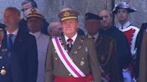Spanish royals attend first public event since news of abdication