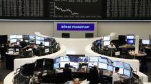 Stocks rise as bond yields buoy financials; oil drops