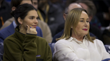 Kendall Jenner sits with rumored boyfriend Ben Simmons's mom at 76ers game