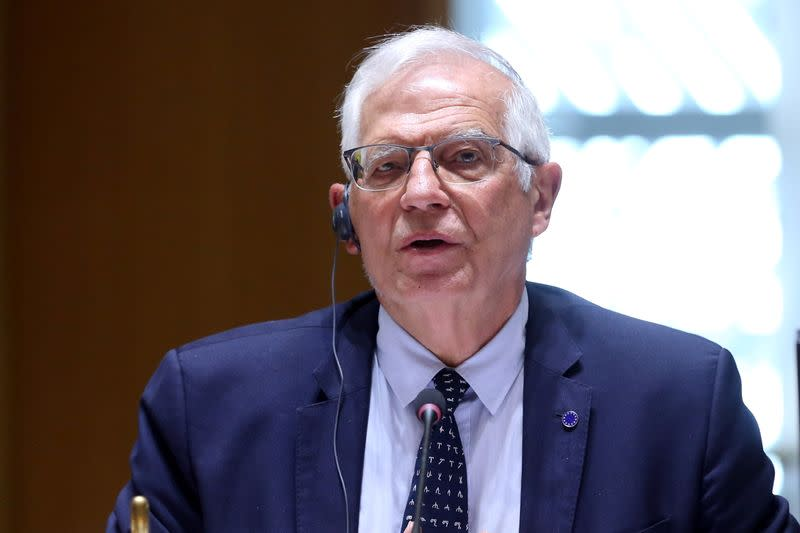 Russian military build-up near Ukraine numbers more than 150,000 troops, EU's Borrell says