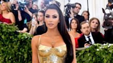 Kim Kardashian West Pulls a '90s Supermodel Move at the Met Gala