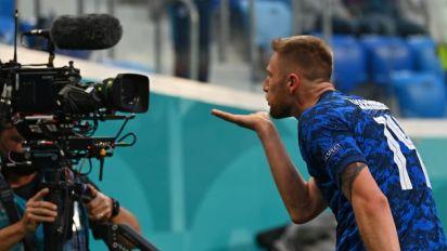 Poland 1-2 Slovakia: Milan Skriniar strike seals upset win as Grzegorz Krychowiak sent off