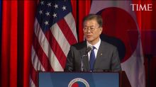 South Korea President Moon Jae-in Speaks at U.S. Chamber of Commerce