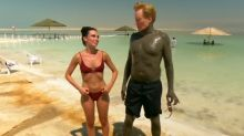 Conan takes a shade bath in the Dead Sea during Israel trip teaser