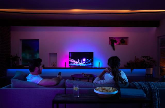 Philips is adding voice control to its Hue light and TV sync box