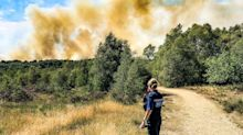 Homes evacuated as crews continue to tackle 40-hectare Surrey wildfire