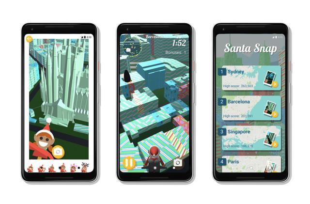 Google's Santa hub has you taking 'elfies' around the world