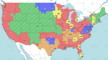 If you're in the purple, you'll see Ravens vs. Eagles on CBS in Week 6