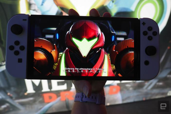 The Switch OLED is a strong contender for most gorgeous handheld ever