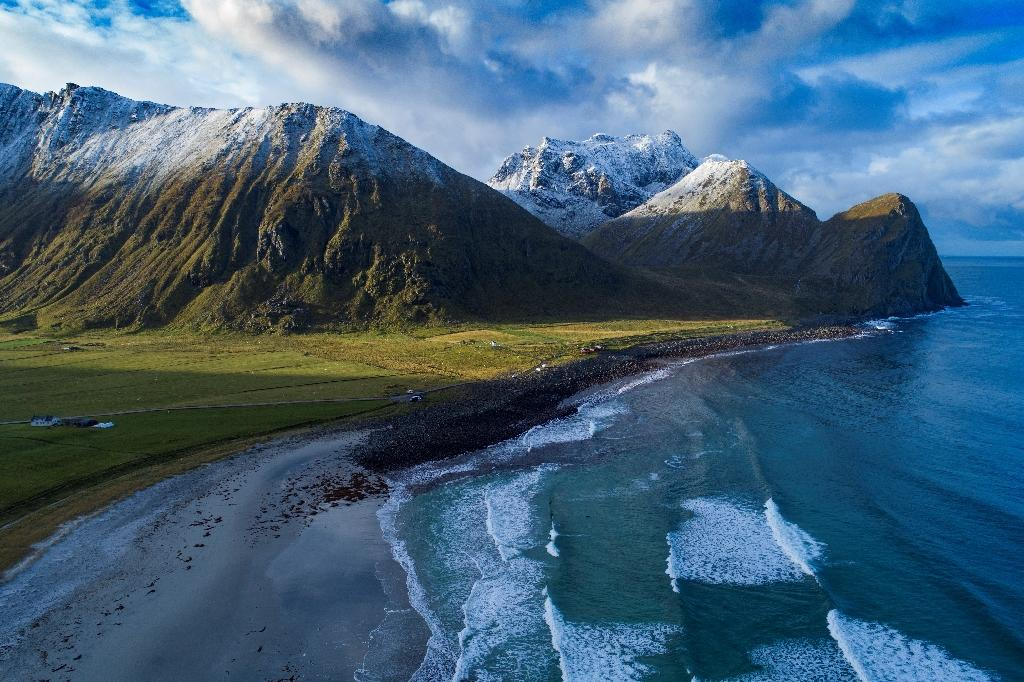 Unstad in northern Norway is the venue of Lofoten Masters 2018 surfing event (AFP Photo/Olivier MORIN)