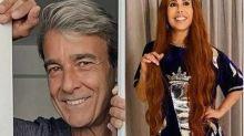 Agora solteiro, Alexandre Borges se encanta com Joelma no 'Altas horas': 'Tá uma gata!'