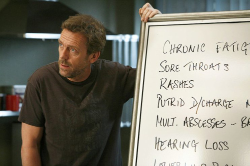 Hugh Laurie as Dr. Gregory House in House M.D.. (Photo: Greg Gayne/NBC/NBCU Photo Bank via Getty Images)