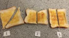 El intenso debate en Twitter sobre cómo cortar las tostadas