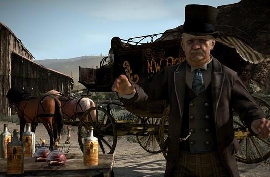 Red Dead Redemption screens introduce the locals