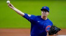 Cubs' Mills through 7 hitless innings vs Brewers