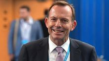 Tony Abbott mocked for bizarre tweet congratulating engaged daughter