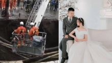Newlywed couple revealed as victims in footpath sinkhole