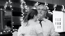 'I love you Daddy': Sad story behind daughter's wedding photo post