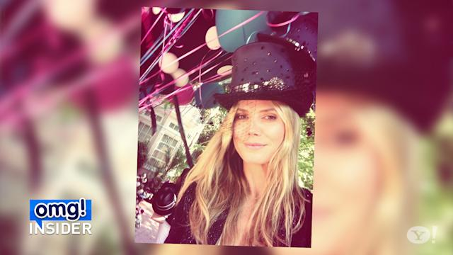 Heidi Klum Is a Mad Hatter at Her 40th Birthday Party