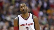 John Wall talks smack with Julio Jones, Gucci Mane and Quavo before taking over the game