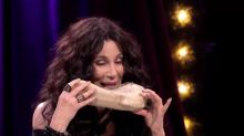 WATCH Cher eat cow tongue and dried caterpillar on The Late Late Show