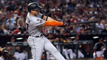 Giancarlo Stanton inches closer to 60 homers