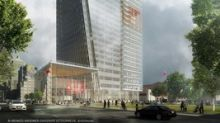 First shovel at groundbreaking for National Bank's new head office, at 800 Saint-Jacques Street West in Montreal