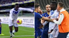 'Shame on you': Italian forward storms off field after racist abuse