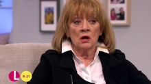 Red-faced Lorraine Kelly forced to apologise as Amanda Barrie SWEARS live on air