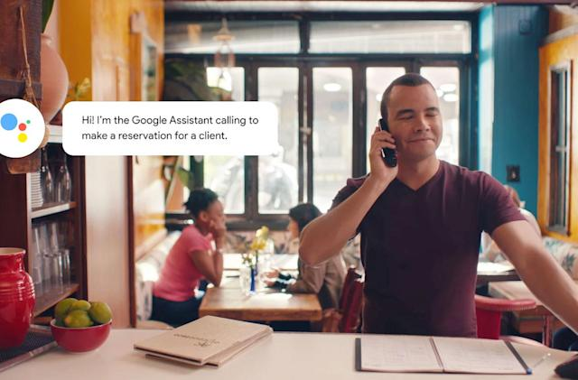 I took a phone call from the Google Assistant