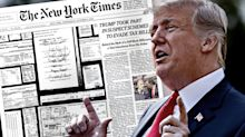 Trump responds to Times tax bombshell: '97% of their stories on me are bad'