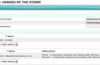 "Possible Blizzard trademark: ""Heroes of the Storm"""